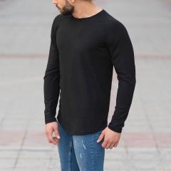 Black Sweatshirt With Stripe Details Mv Premium Brand - 3