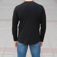 Black Sweatshirt With Stripe Details Mv Premium Brand - 4