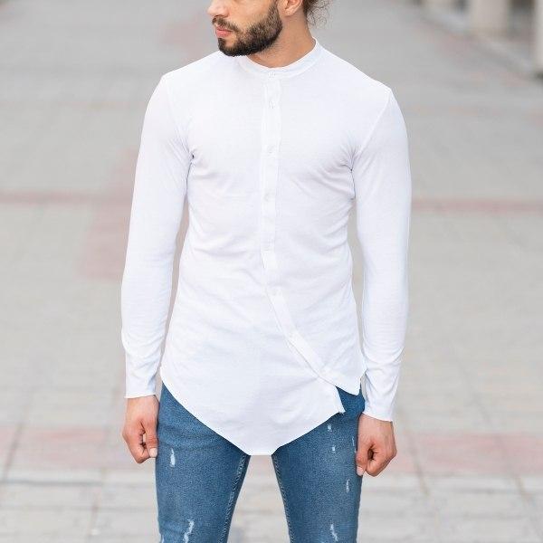 Horizonal Buttoned Shirt In...
