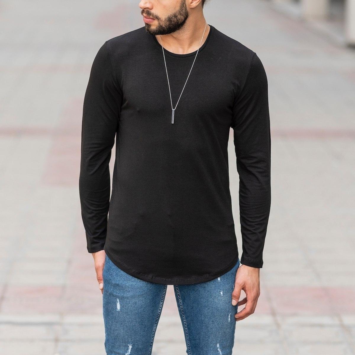 Basic Sweatshirt In Black Mv Premium Brand - 1