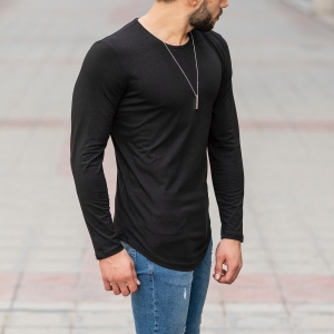 Basic Sweatshirt In Black Mv Premium Brand - 2