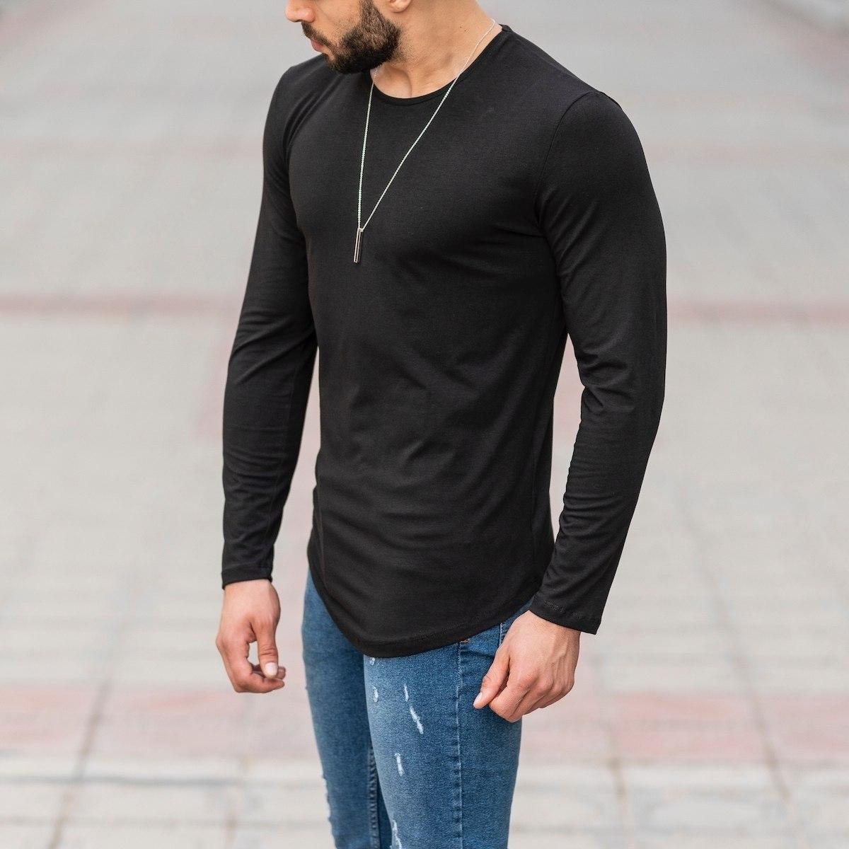 Basic Sweatshirt In Black Mv Premium Brand - 3