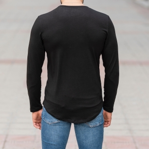 Basic Sweatshirt In Black Mv Premium Brand - 4