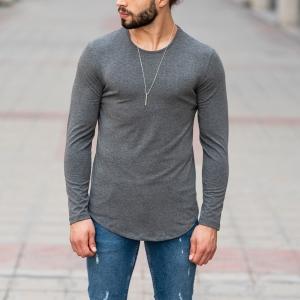 Basic Sweatshirt In Gray Mv Premium Brand - 1