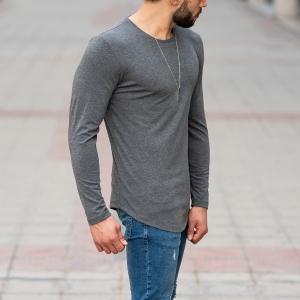 Basic Sweatshirt In Gray Mv Premium Brand - 2