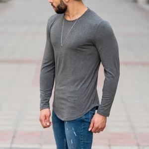 Basic Sweatshirt In Gray Mv Premium Brand - 3