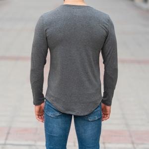 Basic Sweatshirt In Gray Mv Premium Brand - 4