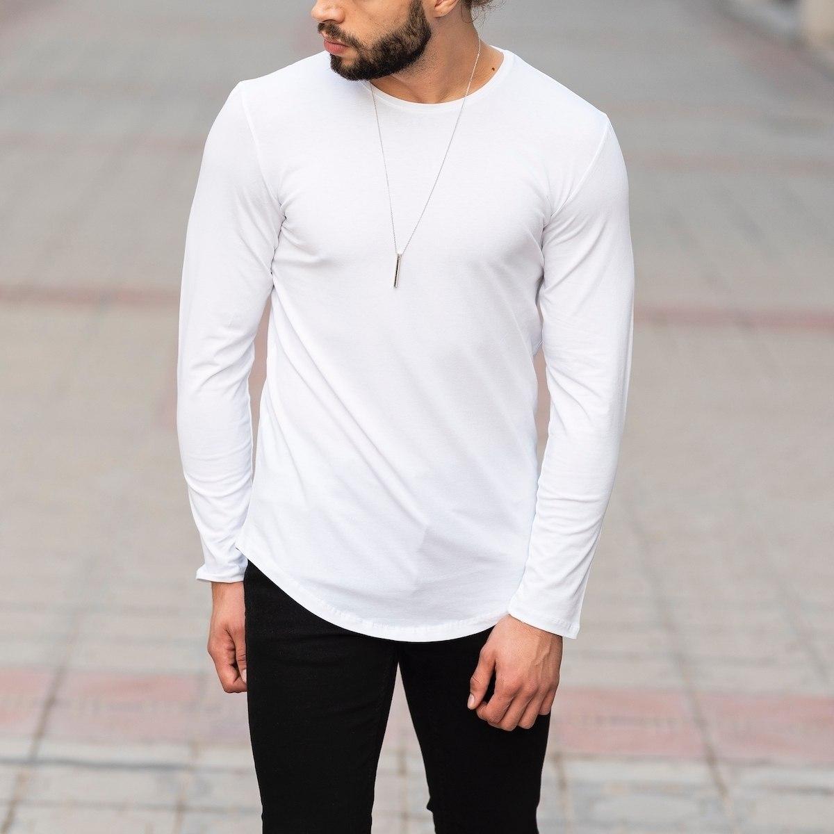 Basic Sweatshirt In White Mv Premium Brand - 1