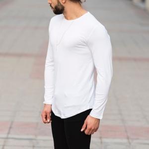 Basic Sweatshirt In White Mv Premium Brand - 2