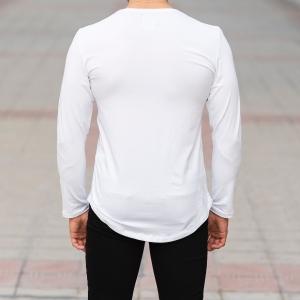 Basic Sweatshirt In White Mv Premium Brand - 4