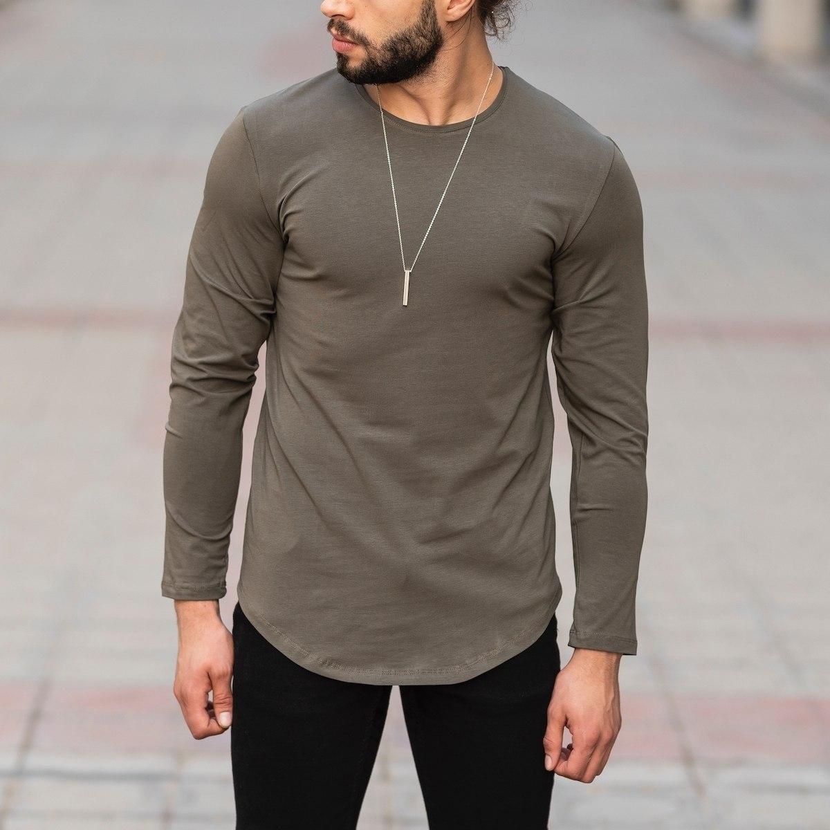 Basic Sweatshirt In Khaki