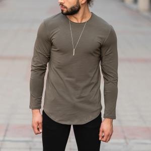 Basic Sweatshirt In Khaki Mv Premium Brand - 1