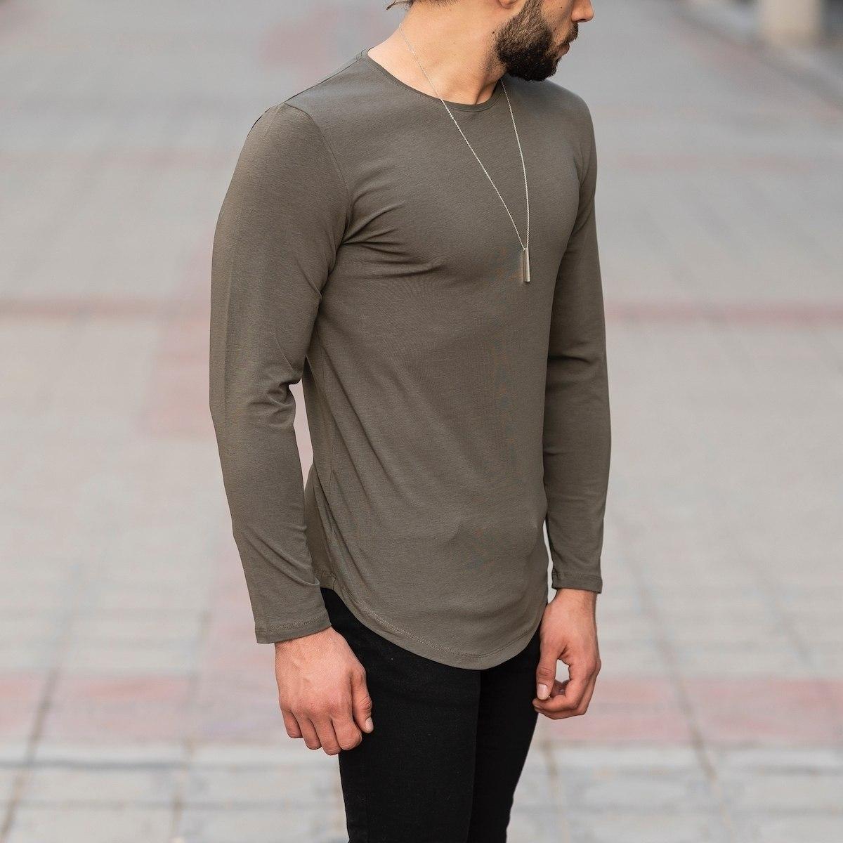 Basic Sweatshirt In Khaki Mv Premium Brand - 2