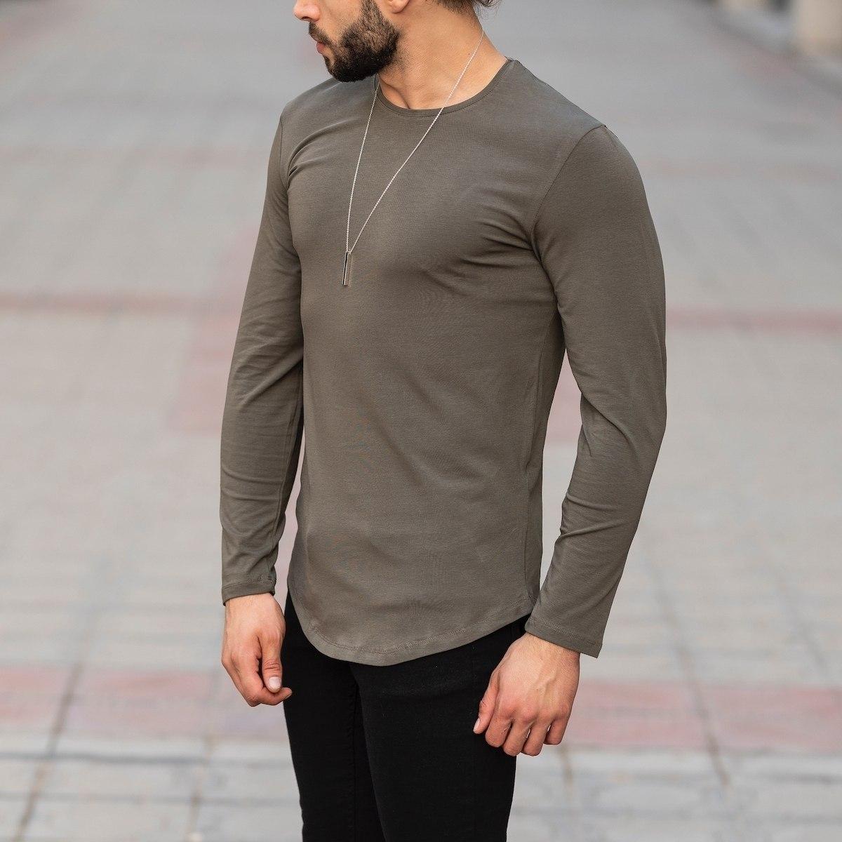 Basic Sweatshirt In Khaki Mv Premium Brand - 3