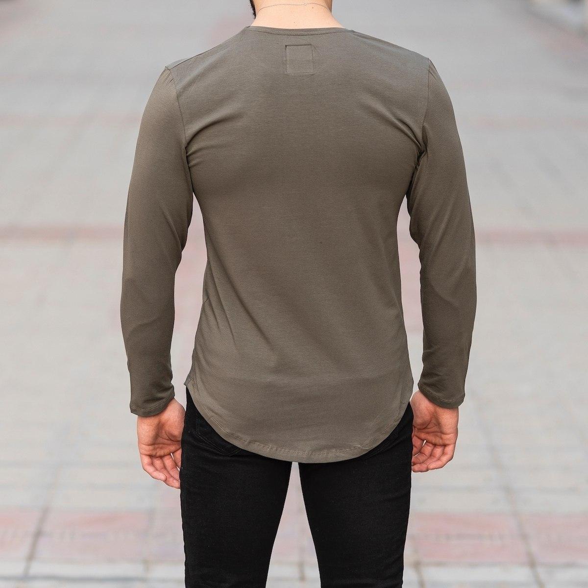 Basic Sweatshirt In Khaki Mv Premium Brand - 4