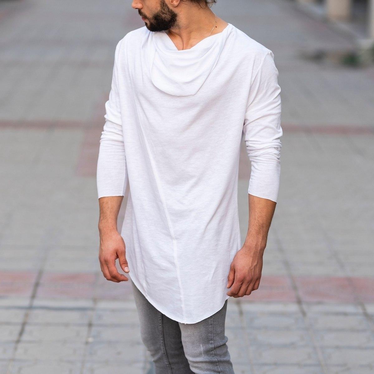 Scarf-Neck Sweatshirt In White Mv Premium Brand - 3