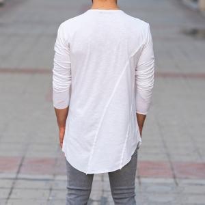 Scarf-Neck Sweatshirt In White Mv Premium Brand - 5