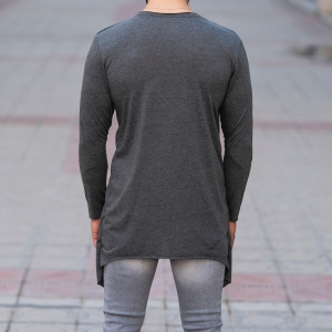 V-Layered Sweatshirt In Gray Mv Premium Brand - 4