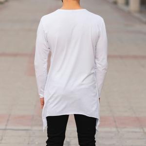 Double Textured Sweatshirt In White Mv Premium Brand - 4