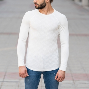 Engraved Sweatshirt In White Mv Premium Brand - 1