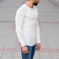 Engraved Sweatshirt In White Mv Premium Brand - 3