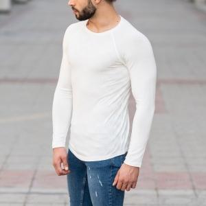 Engraved Sweatshirt In White Mv Premium Brand - 4