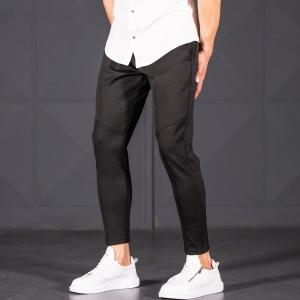 Horizonal Stitched Joggers In Black Mv Premium Brand - 3