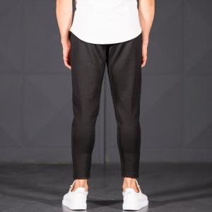 Horizonal Stitched Joggers In Black Mv Premium Brand - 5