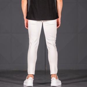 Scratched Jean In White Mv Premium Brand - 4