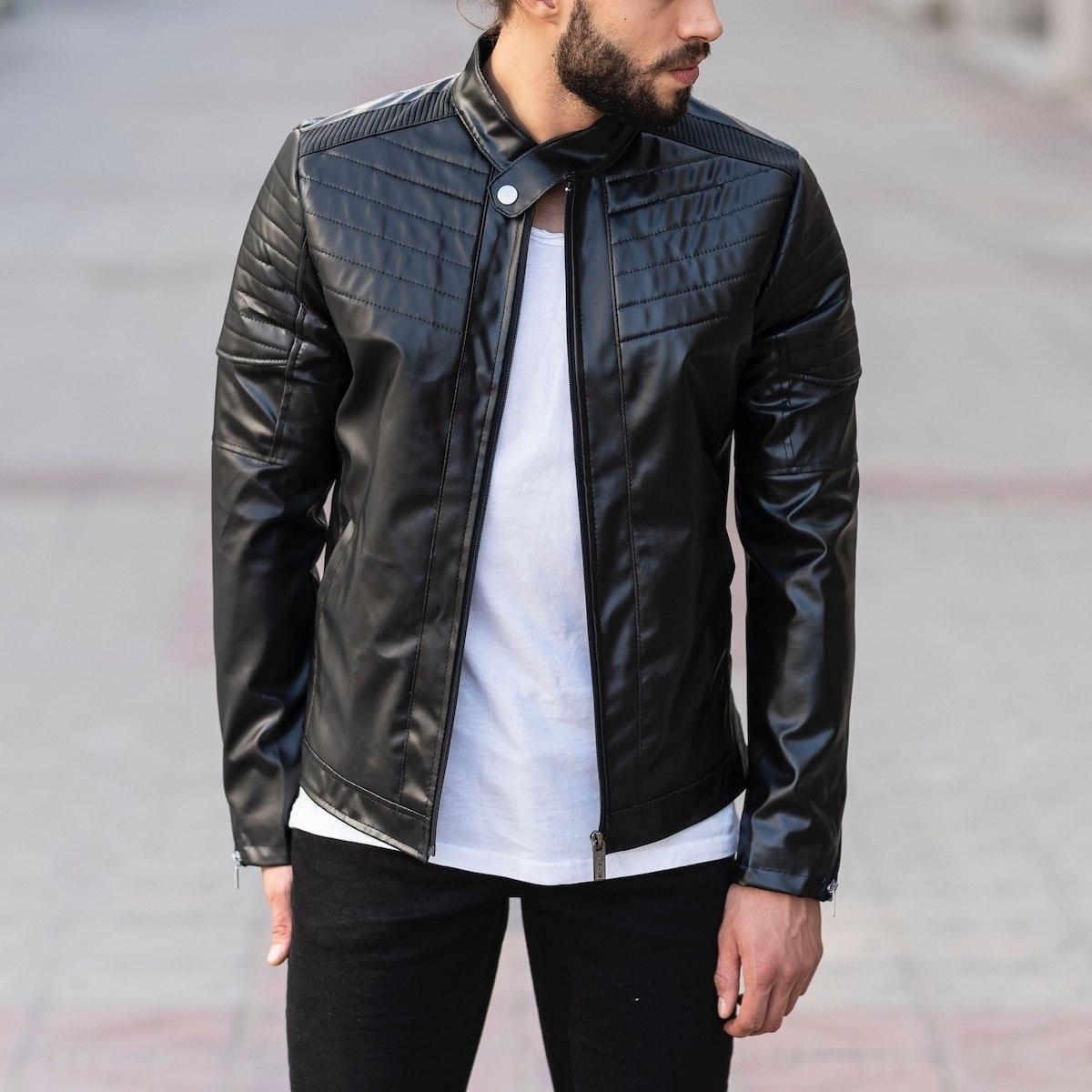 Biker Jacket In Black MV Jacket Collection - 1