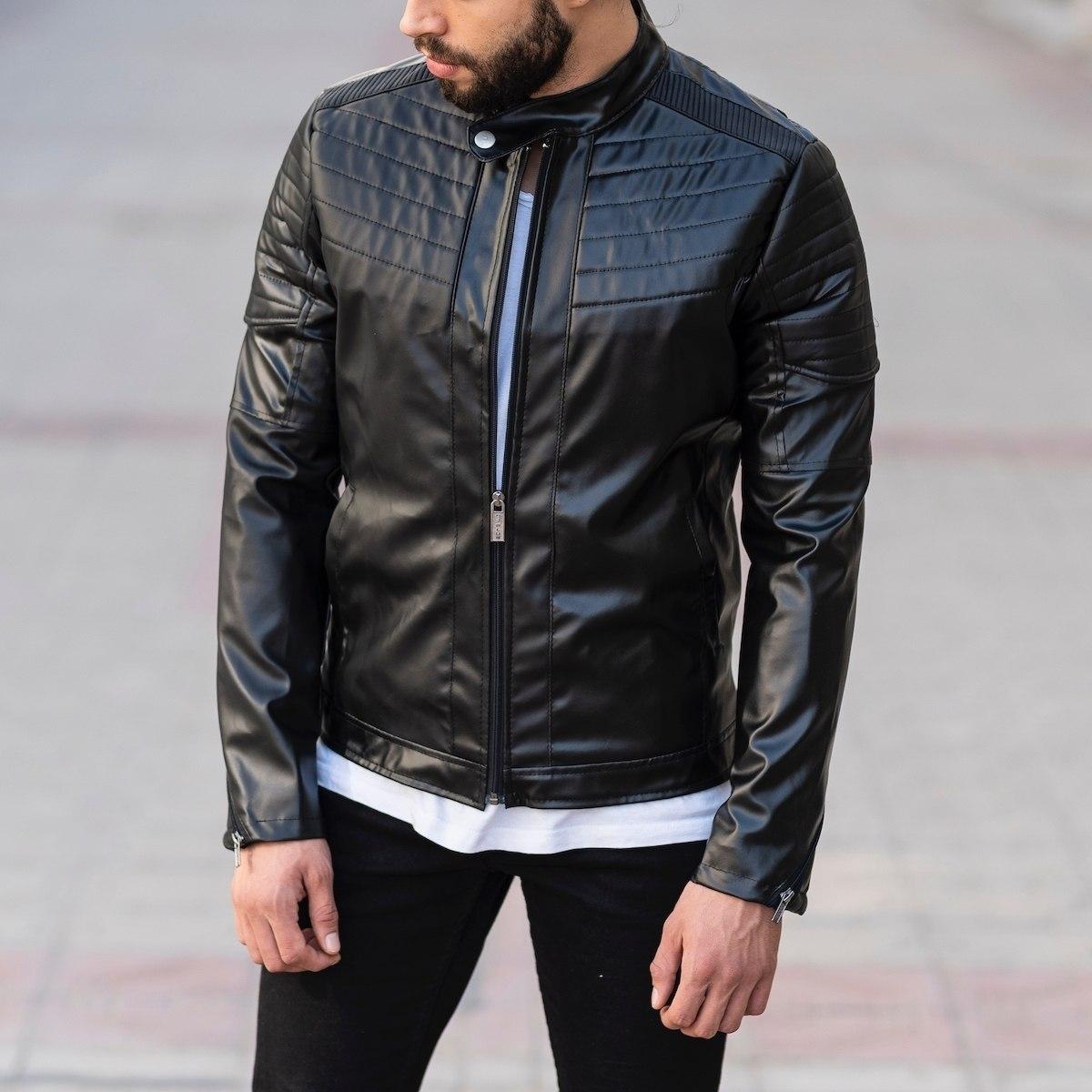 Biker Jacket In Black MV Jacket Collection - 3