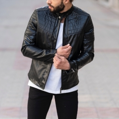 Biker Jacket In Black MV Jacket Collection - 4
