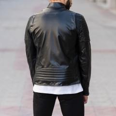Biker Jacket In Black MV Jacket Collection - 5