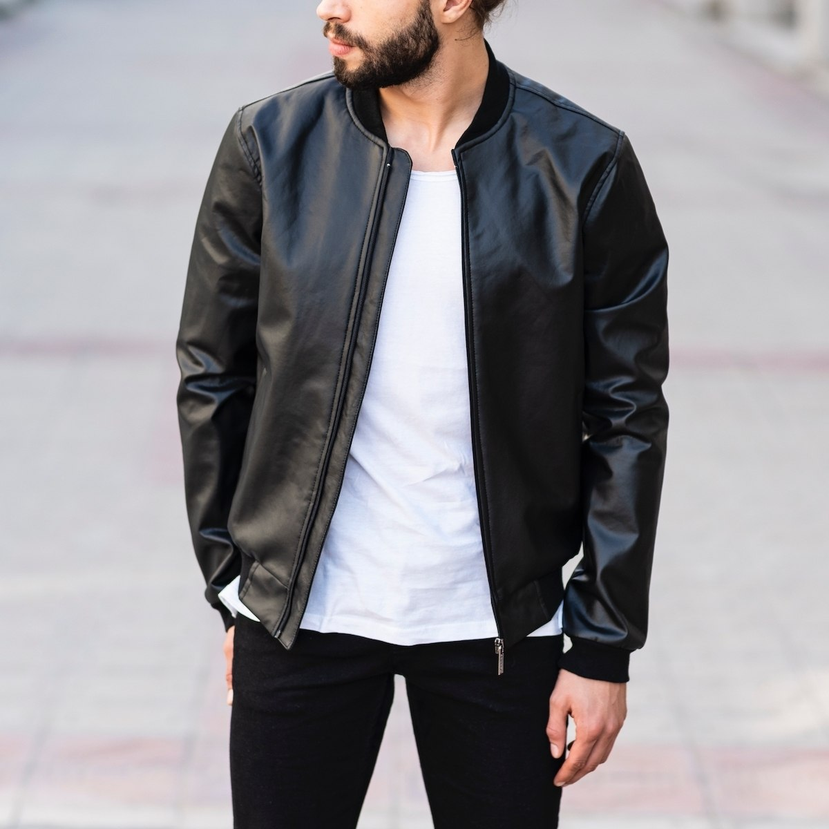 Full Black Bomber Jacket