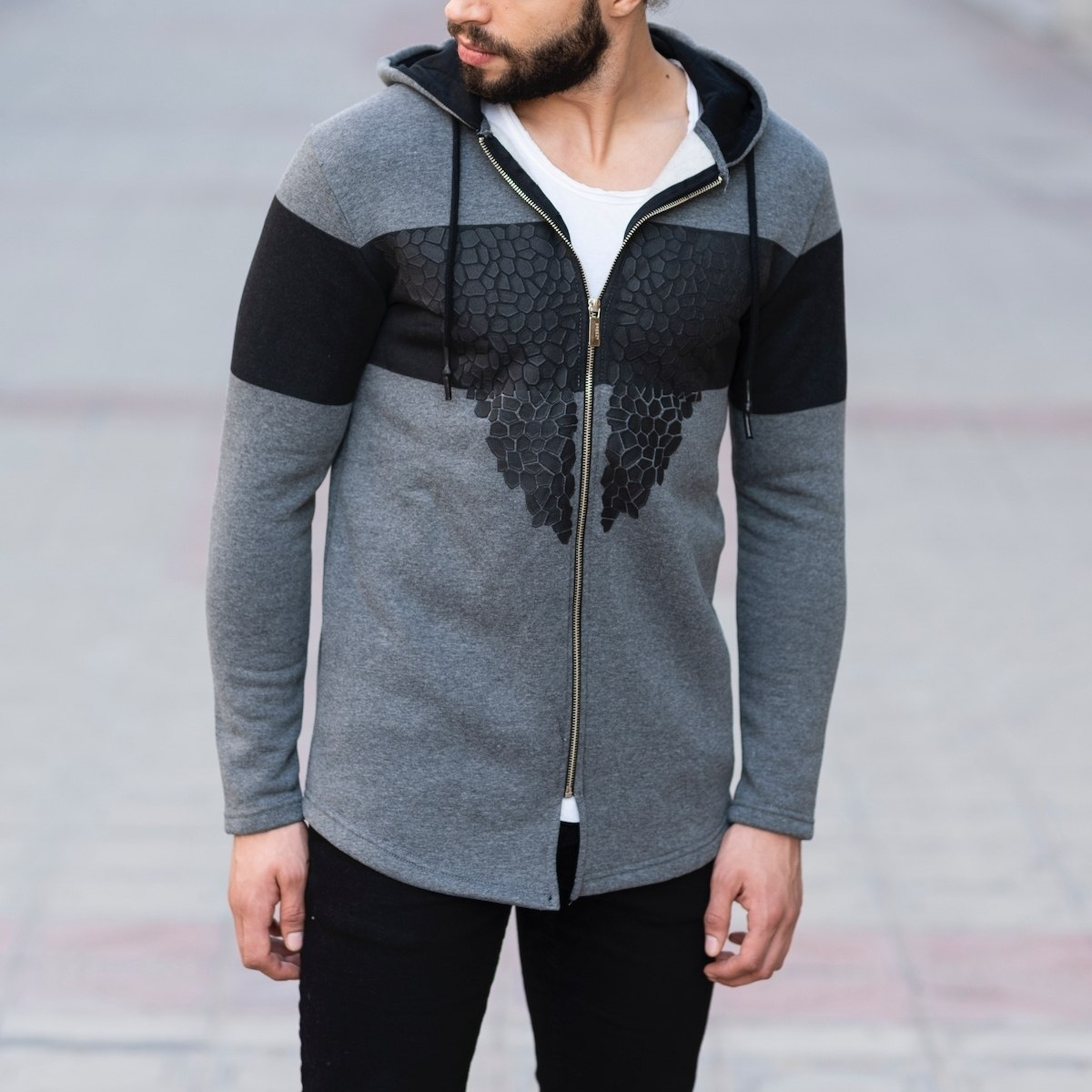 Autumn Collection Jacket in Black&Gray
