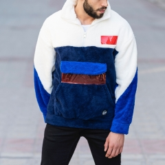 Well-Soft SweatShirt in Black-White&Blue Mv Premium Brand - 3