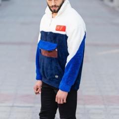 Well-Soft SweatShirt in Black-White&Blue Mv Premium Brand - 5