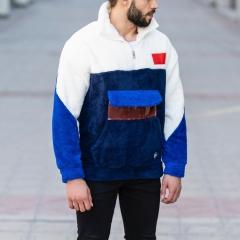 Well-Soft SweatShirt in Black-White&Blue Mv Premium Brand - 4