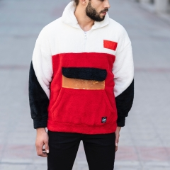 Well-Soft SweatShirt in Red-White&Black Mv Premium Brand - 1