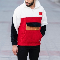 Well-Soft SweatShirt in Red-White&Black Mv Premium Brand - 2
