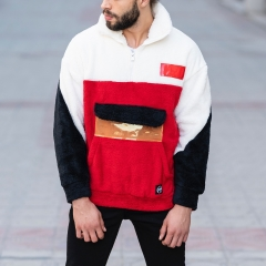 Well-Soft SweatShirt in Red-White&Black Mv Premium Brand - 3