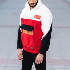 Well-Soft SweatShirt in Red-White&Black Mv Premium Brand - 4