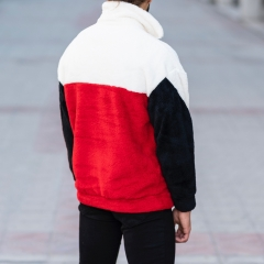 Well-Soft SweatShirt in Red-White&Black Mv Premium Brand - 5