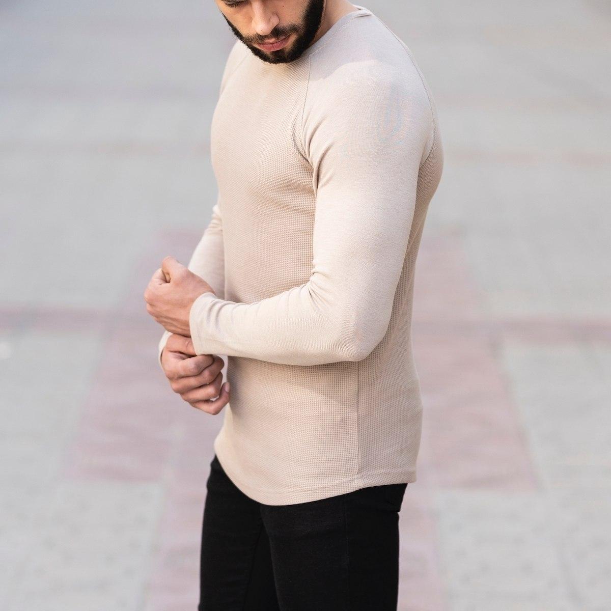 Dotwork Sweatshirt In Beige