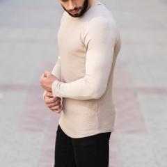 Dotwork Sweatshirt In Beige Mv Premium Brand - 2