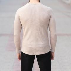 Dotwork Sweatshirt In Beige Mv Premium Brand - 4
