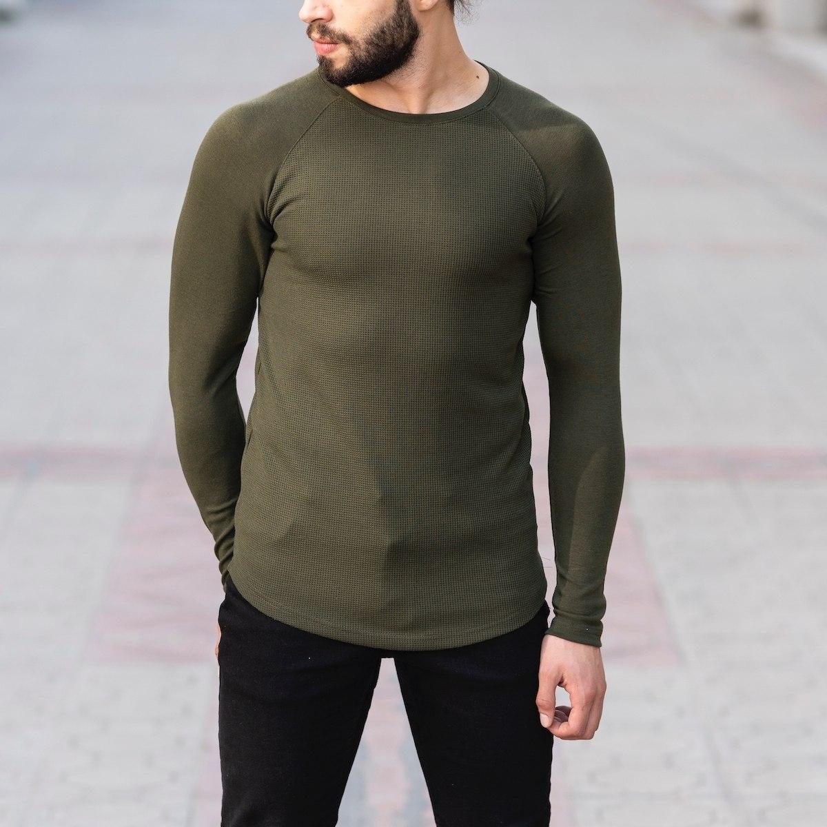 Dotwork Sweatshirt In Khahki Mv Premium Brand - 1