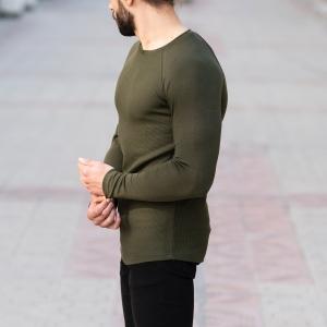 Dotwork Sweatshirt In Khahki Mv Premium Brand - 3