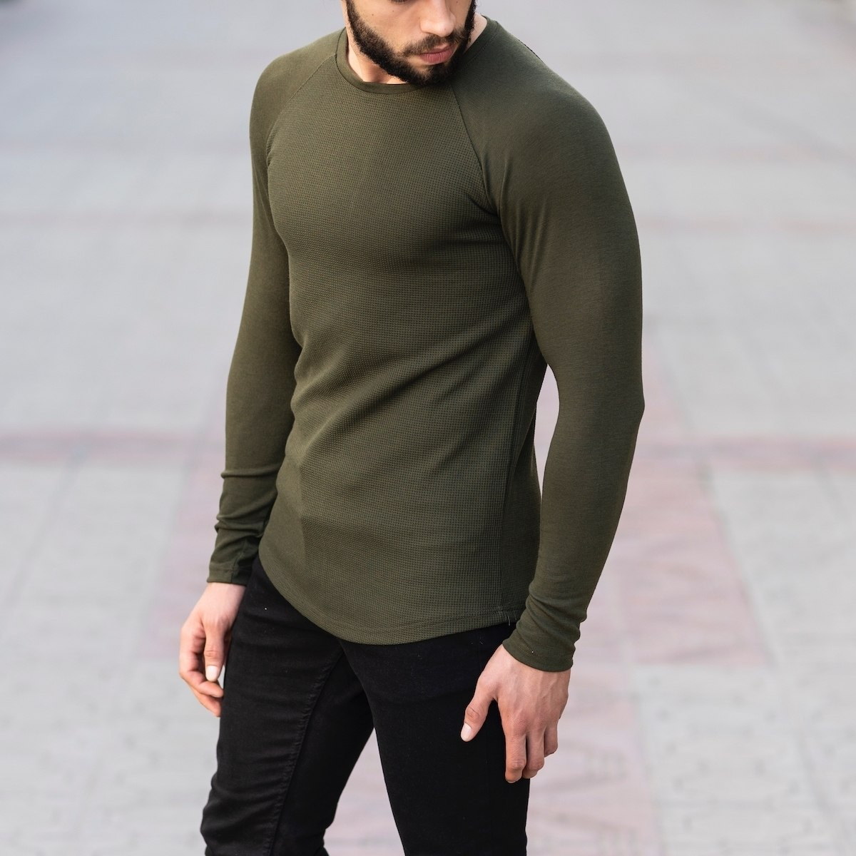 Dotwork Sweatshirt In Khahki Mv Premium Brand - 4