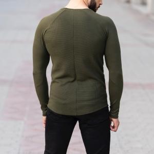 Dotwork Sweatshirt In Khahki Mv Premium Brand - 5